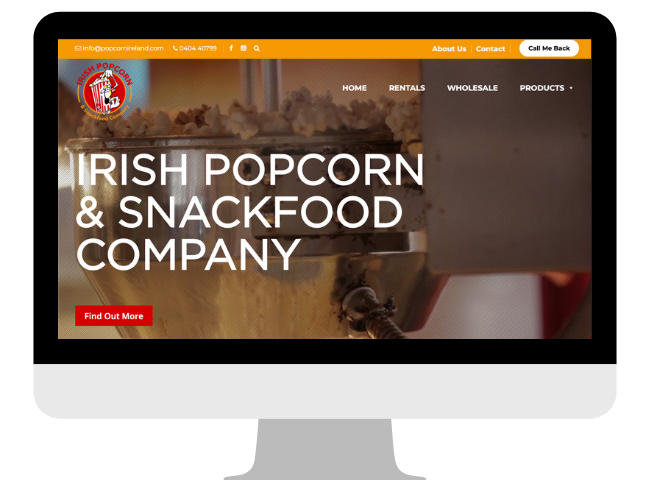 Portfolio - Popcorn Ireland Website