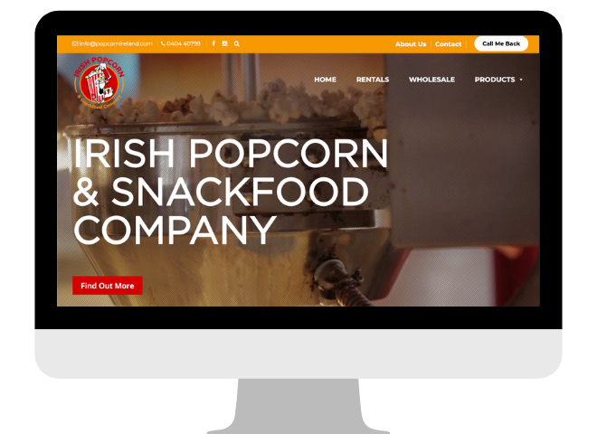 Portfolio - Popcorn Ireland Website